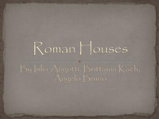 Roman Houses