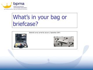 What's in your bag or briefcase?