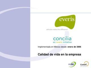 Implementada en México desde:  enero de 2006 Calidad de vida en la empresa