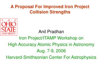 A Proposal For Improved Iron Project Collision Strengths