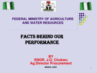 FEDERAL MINISTRY OF AGRICULTURE AND WATER RESOURCES