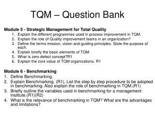 TQM – Question Bank