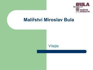 Malířství Miroslav Bula
