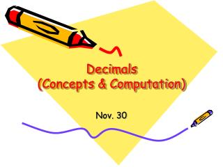 Decimals Concepts  Computation