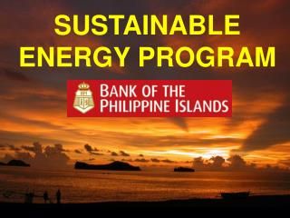 SUSTAINABLE ENERGY PROGRAM