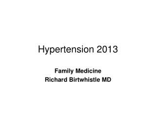 Hypertension 2013