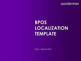 Bpos Localization  Template
