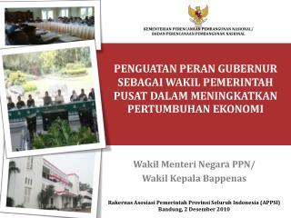 Wakil Menteri Negara PPN/  Wakil Kepala Bappenas