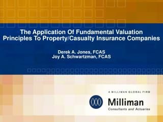 The Application Of Fundamental Valuation  Principles To Property
