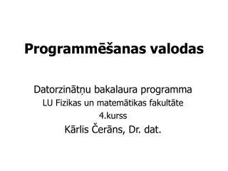 Programmēšanas valodas