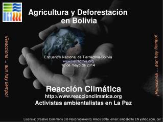 Reacción Climática reaccionclimatica Activistas ambientalistas en La Paz