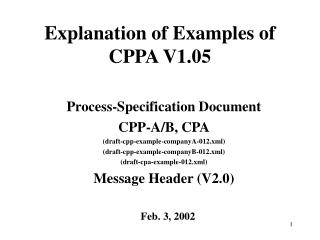 Explanation of Examples of CPPA V1.05