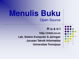 Menulis Buku Open Source