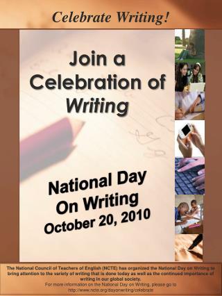 Celebrate Writing