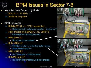 BPM Issues in Sector 7-8