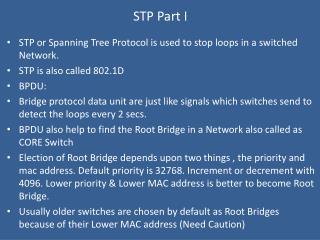 STP Part I