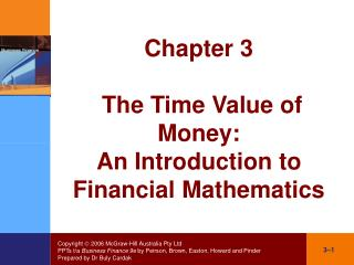 Chapter 3  The Time Value of Money: An Introduction to Financial Mathematics
