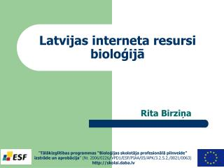 Latvijas interneta resursi bioloģijā
