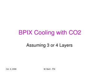 BPIX Cooling with CO2