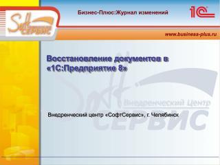 Внедренческий центр «СофтСервис» ,  г .  Челябинск