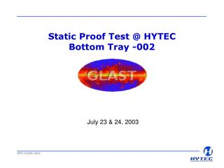 Static Proof Test  HYTEC Bottom Tray -002