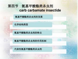 第四节 氨基甲酸酯类杀虫剂 carb carbamate insectide