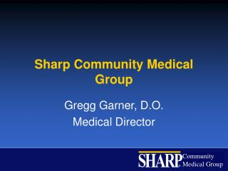 Sharp Community Medical Group
