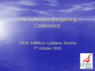 UNI Collective Bargaining Conference