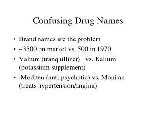 Confusing Drug Names