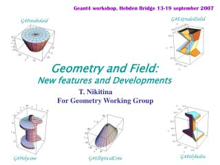 Geometry and Field: New features and Developments
