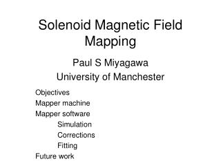 Solenoid Magnetic Field Mapping
