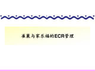 雀巢与家乐福的 ECR 管理