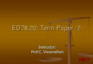 ED78.20: Term Paper -2