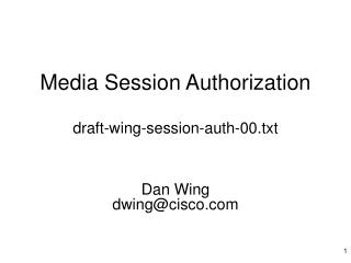 Media Session Authorization