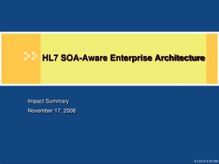 HL7 SOA-Aware Enterprise Architecture