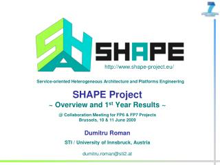 SHAPE Project  ~ Overview and 1 st  Year Results ~