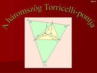 A háromszög Torricelli-pontja