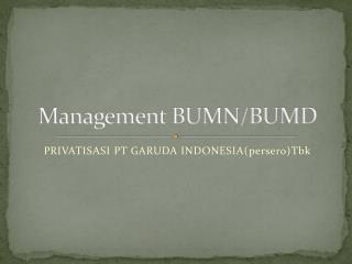 Management BUMN/BUMD