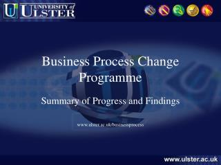Business Process Change Programme