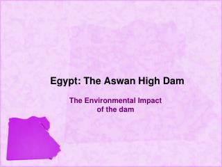 Egypt: The Aswan High Dam