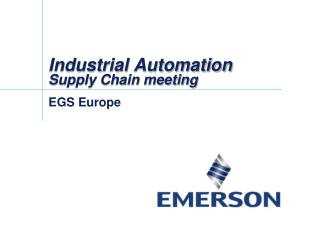 Industrial Automation Supply Chain meeting