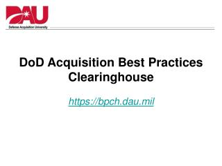 DoD Acquisition Best Practices Clearinghouse