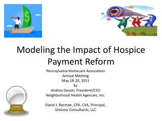 Modeling the Impact of Hospice Payment Reform