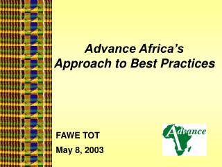 Advance Africa's  Approach to Best Practices