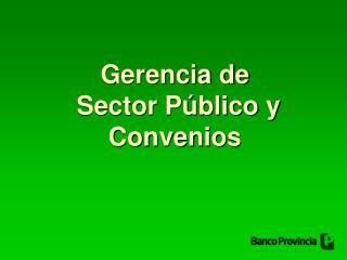 Gerencia de  Sector Público y Convenios