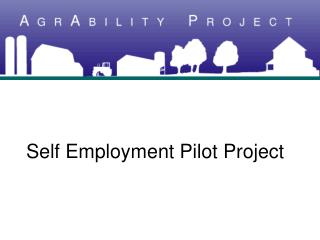 Self Employment Pilot Project