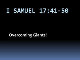 I Samuel 17:41-50