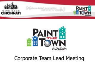 Corporate Team Lead Meeting
