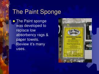 The Paint Sponge