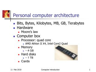 Personal computer architecture